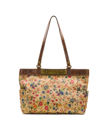 Ria Tote - Patina Coated Linen Canvas Prairie Rose - Ria Tote - Patina Coated Linen Canvas Prairie Rose