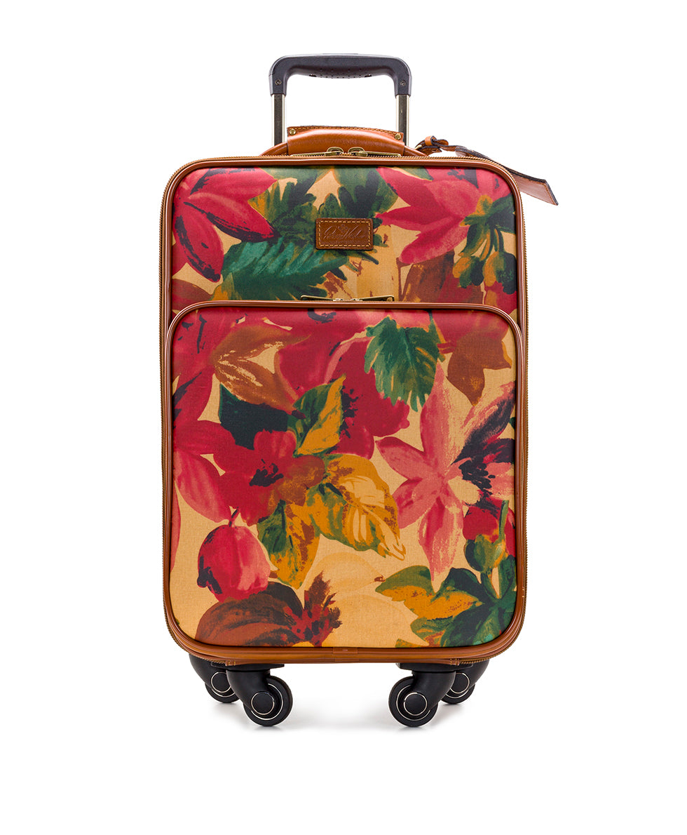 Vettore Trolley - Patina Coated Linen Canvas Spring Multi