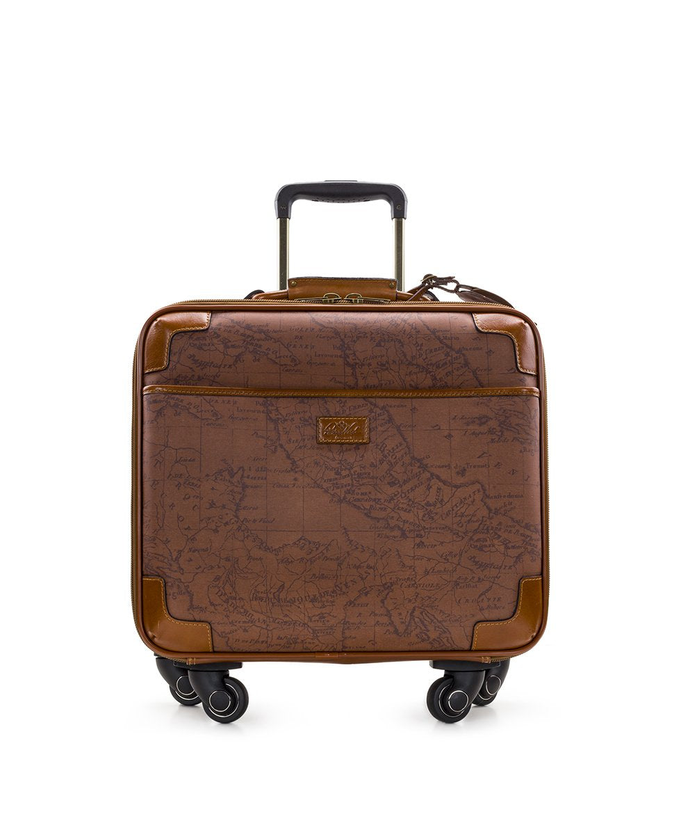 Velino Trolley - Patina Coated Linen Canvas Signature Map