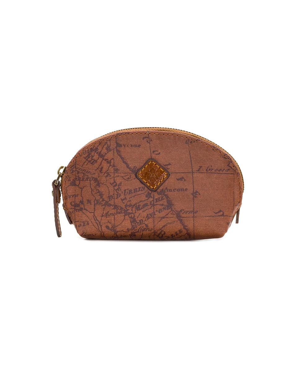 Rosalie Lipstick Case - Patina Coated Canvas Signature Map