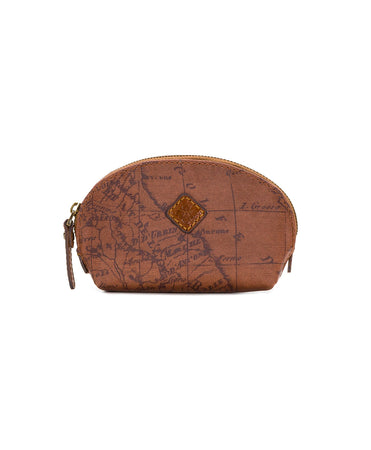 Rosalie Lipstick Case - Patina Coated Canvas Signature Map - Rosalie Lipstick Case - Patina Coated Canvas Signature Map