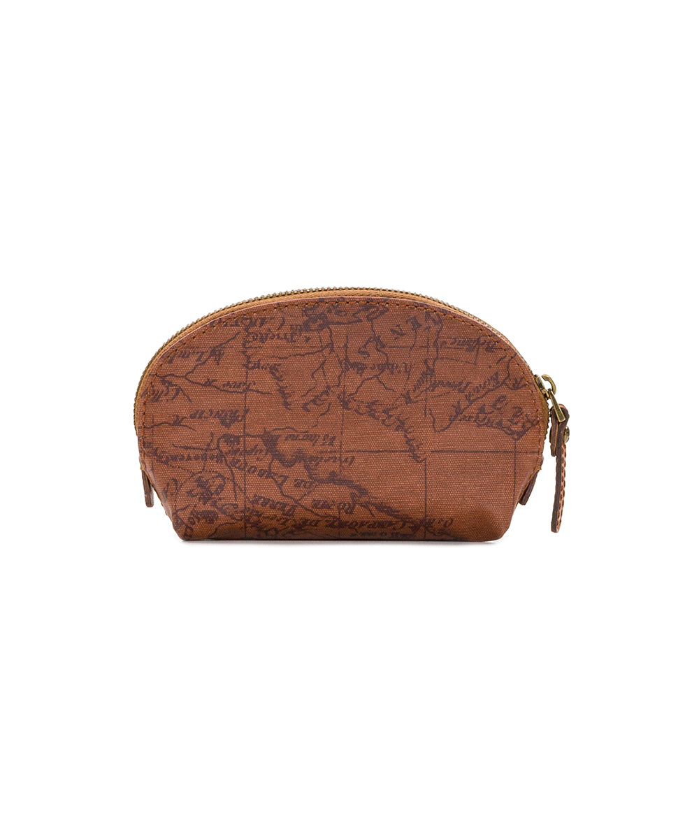 Rosalie Lipstick Case - Patina Coated Canvas Signature Map 2