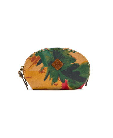 Rosalie Lipstick Case - Patina Coated Canvas Spring Multi - Rosalie Lipstick Case - Patina Coated Canvas Spring Multi