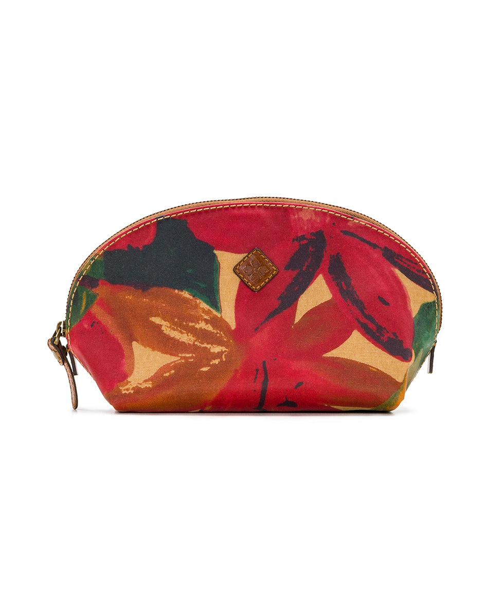 Capriana Cosmetic Case - Patina Coated Canvas Spring Multi - Capriana Cosmetic Case - Patina Coated Canvas Spring Multi