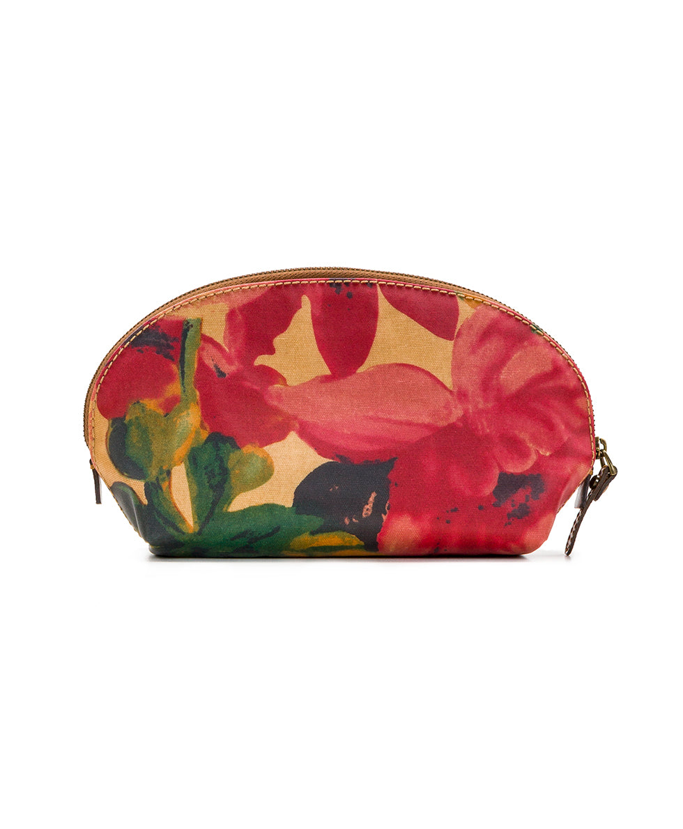 Capriana Cosmetic Case - Patina Coated Canvas Spring Multi 2