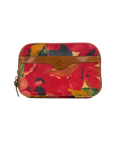 Gabella Cosmetic Pouch - Patina Coated Canvas Spring Multi - Gabella Cosmetic Pouch - Patina Coated Canvas Spring Multi