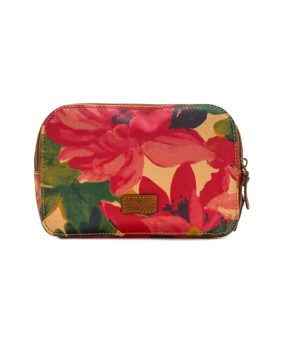 Gabella Cosmetic Pouch - Patina Coated Canvas Spring Multi 2