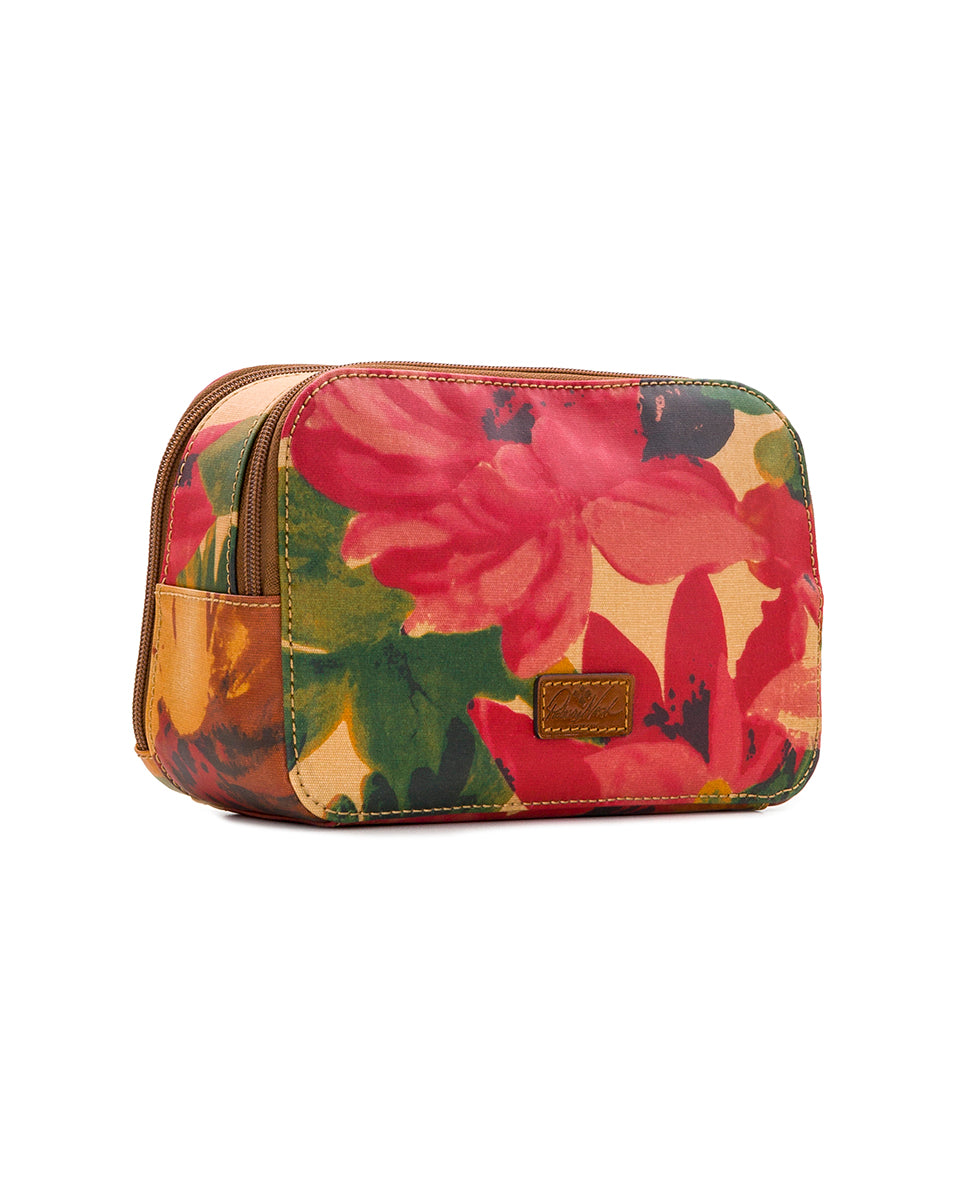 Gabella Cosmetic Pouch - Patina Coated Canvas Spring Multi 3
