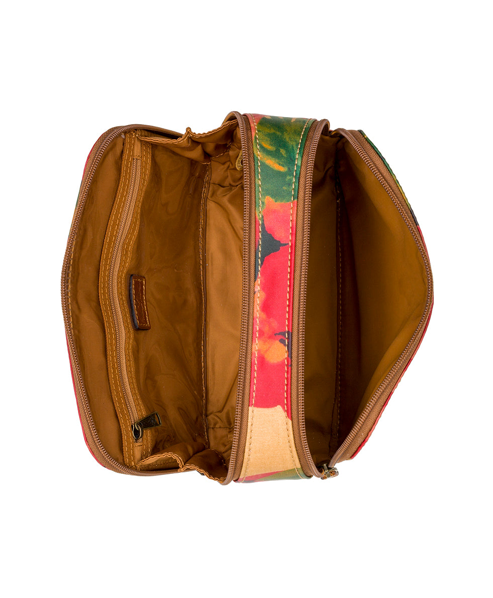 Gabella Cosmetic Pouch - Patina Coated Canvas Spring Multi 4