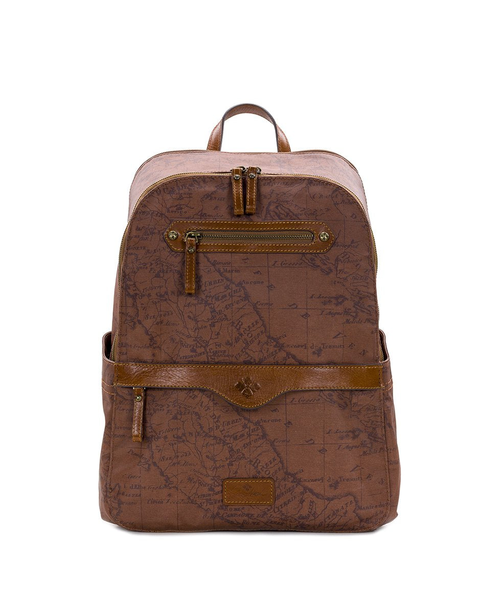 Karina Backpack - Patina Coated Canvas Signature Map