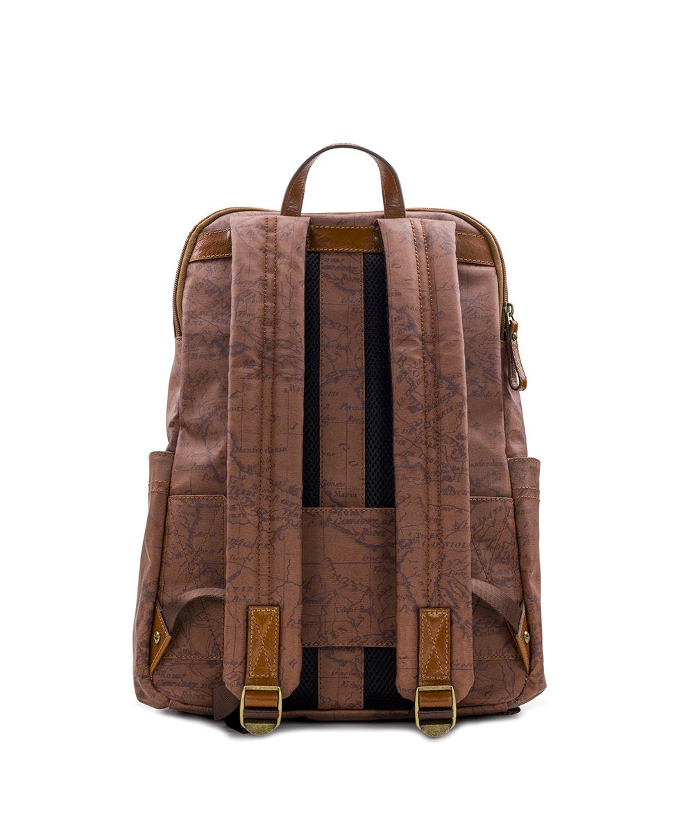 Karina Backpack - Patina Coated Canvas Signature Map 2