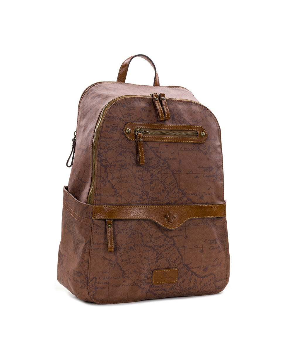 Karina Backpack - Patina Coated Canvas Signature Map 3