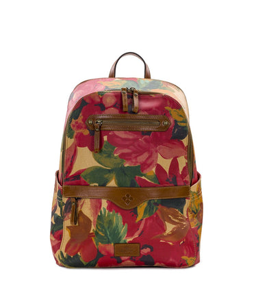 Karina Backpack - Patina Coated Canvas Spring Multi - Karina Backpack - Patina Coated Canvas Spring Multi