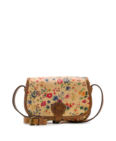 Vichy Crossbody - Patina Coated Linen Canvas Prairie Rose - Vichy Crossbody - Patina Coated Linen Canvas Prairie Rose