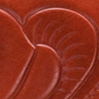 Sanabria Satchel - Waxed Tooled - Orange - Swatch