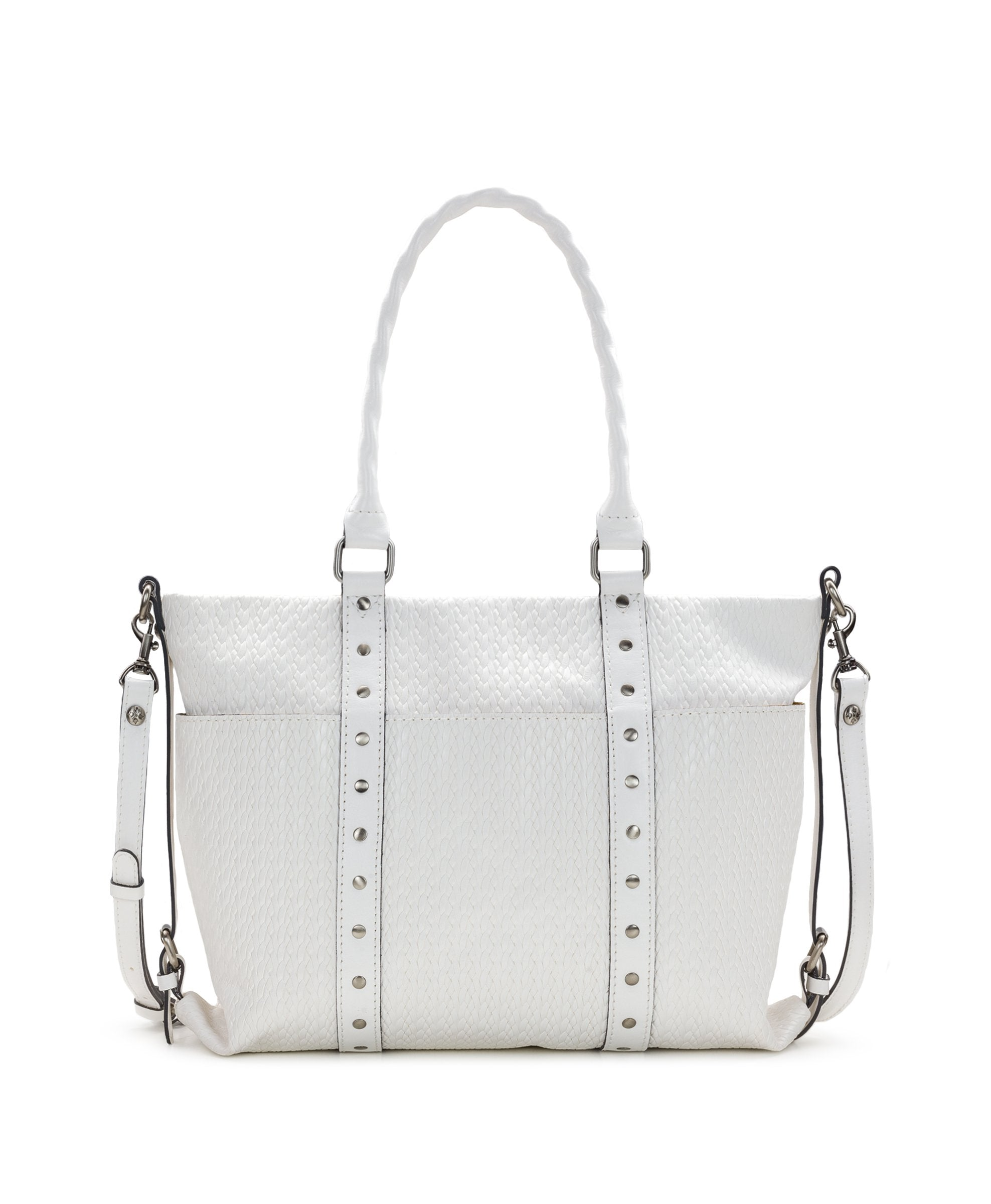 Carducci Pocket Tote - Twisted Woven Embossed - Carducci Pocket Tote - Twisted Woven Embossed