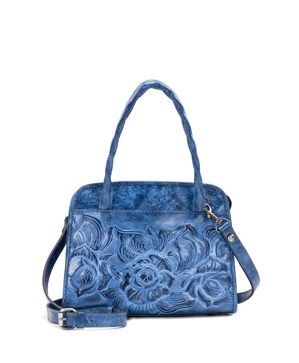 Paris Small Satchel - Burnished Tooled