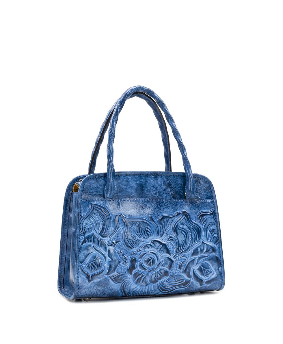 Paris Small Satchel - Burnished Tooled 3