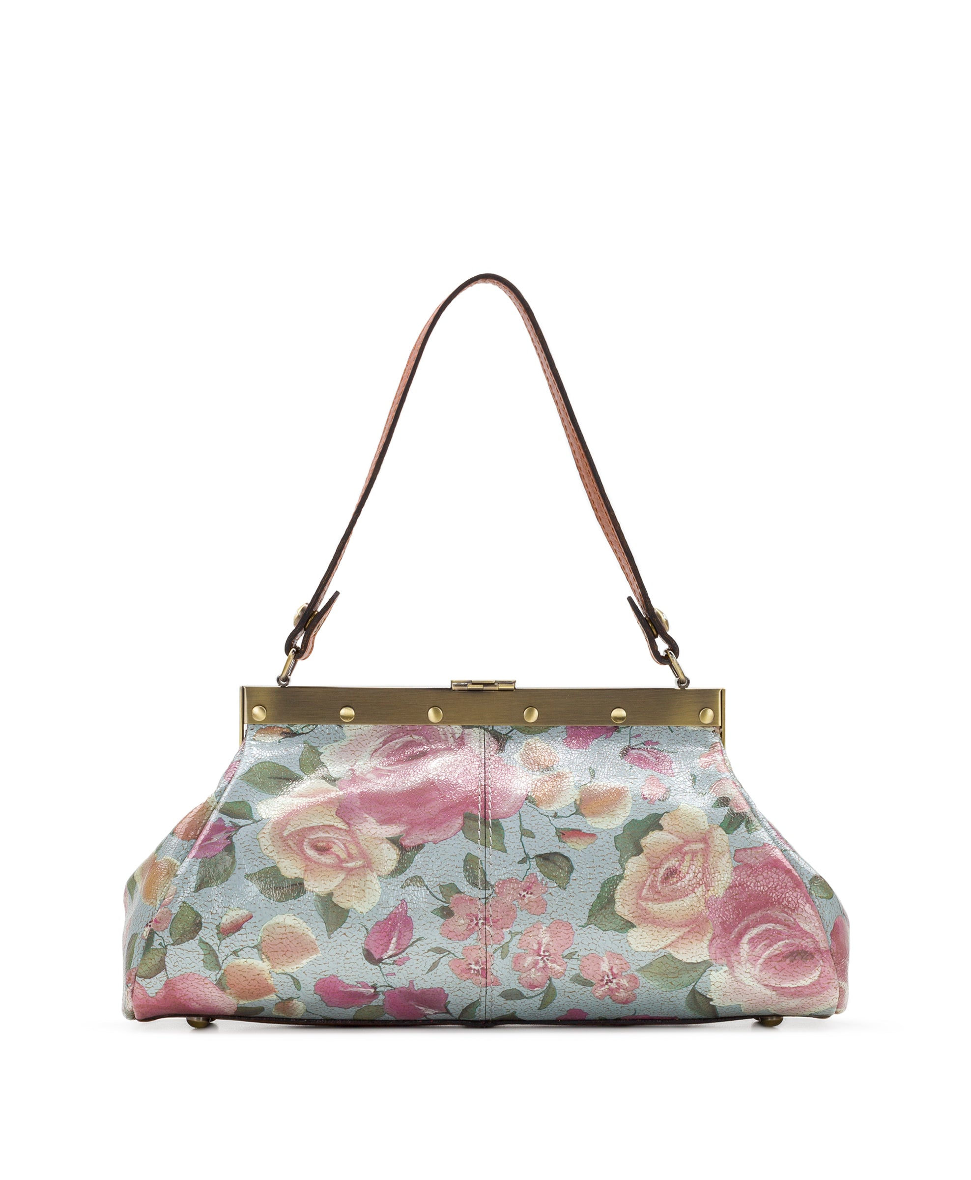 Ferrara Frame Satchel - Crackled Rose 2