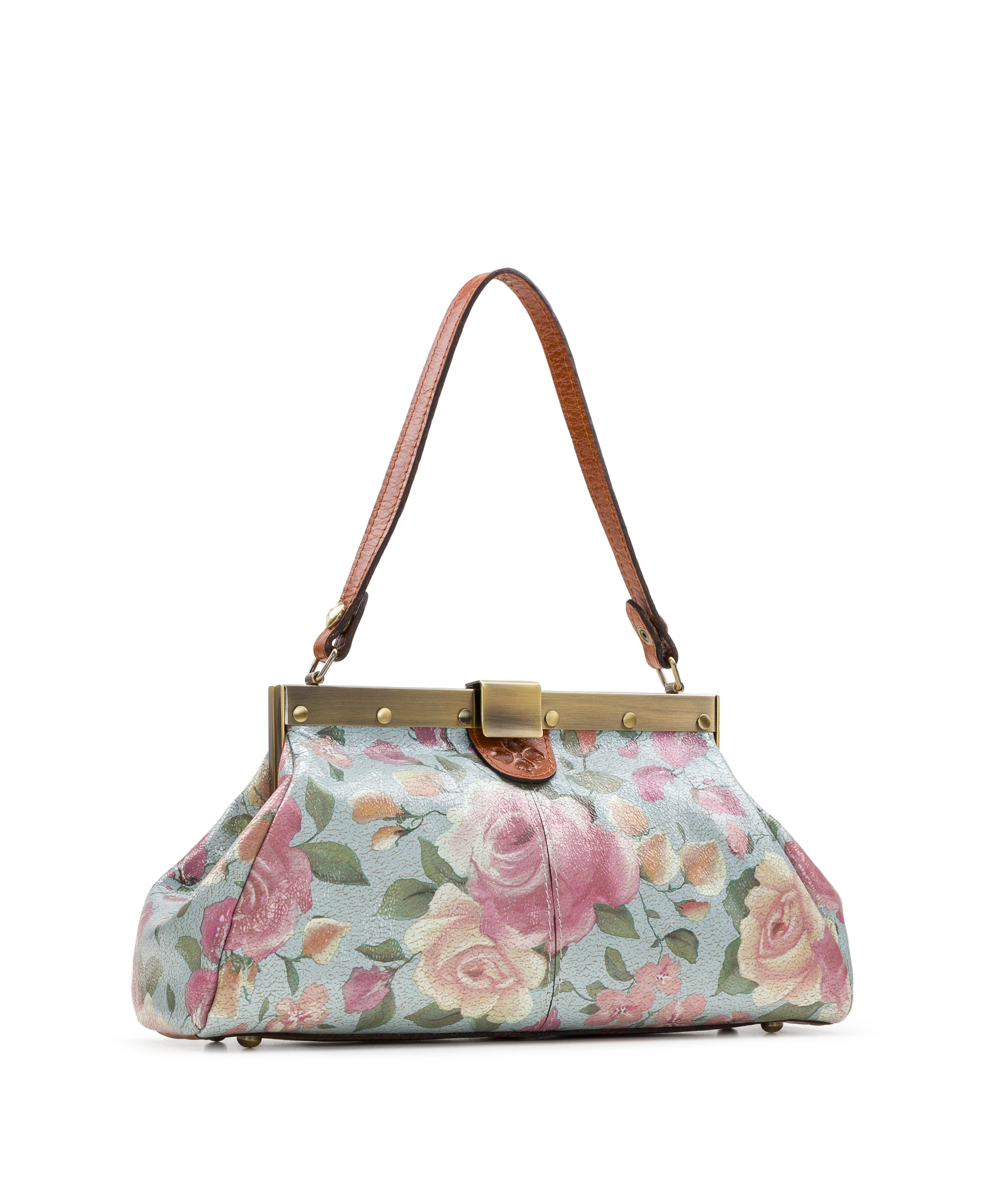 Ferrara Frame Satchel - Crackled Rose 3