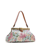 Ferrara Frame Satchel - Crackled Rose