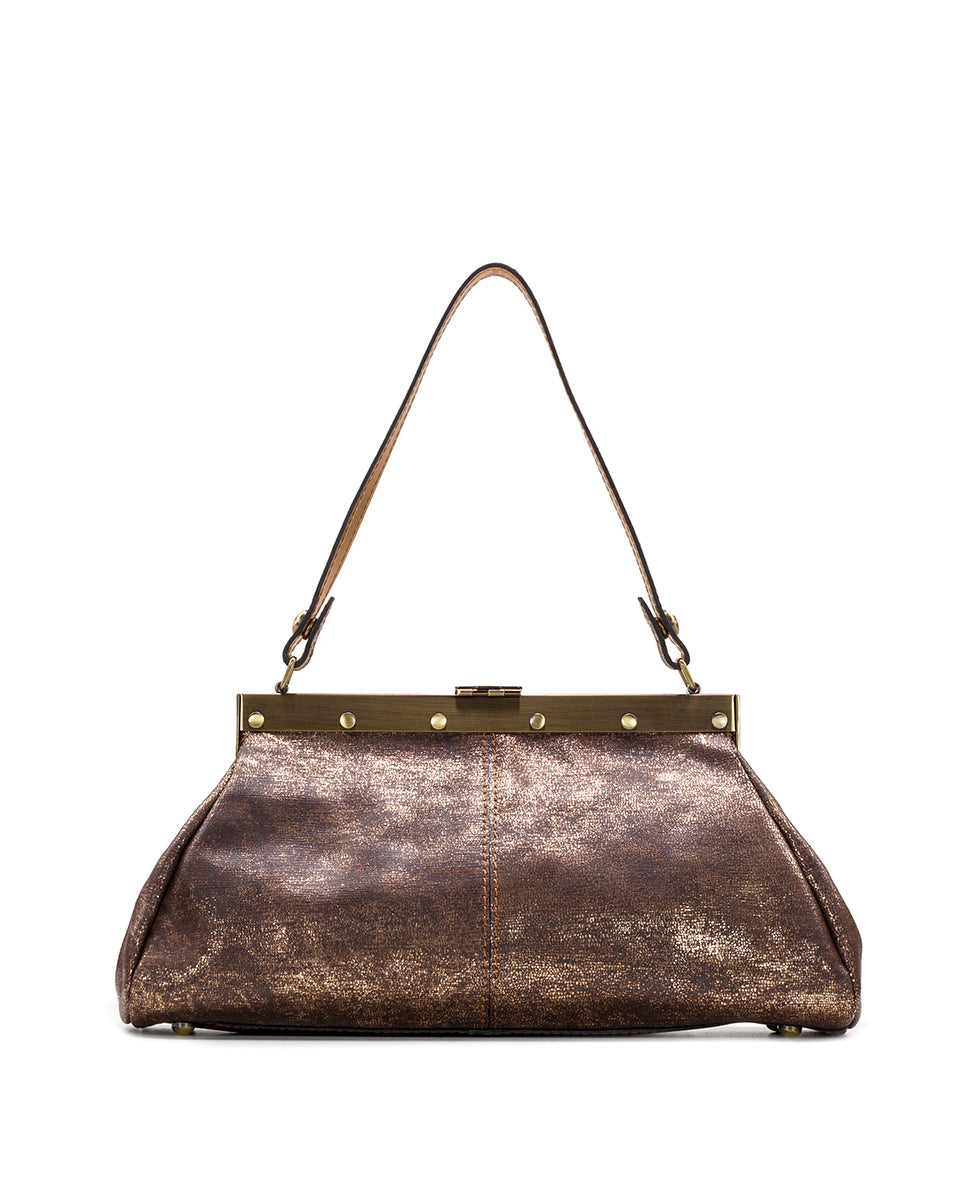 Ferrara Frame Satchel - Metallic Exotic Lizard 2