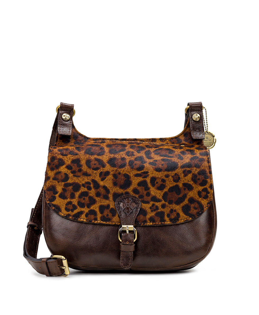 London Saddle Bag - Leopard Haircalf 1