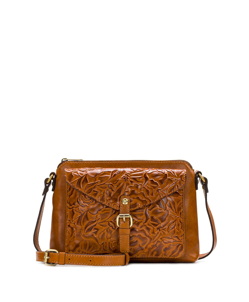 Avellino Crossbody - Antique Rose Tooling