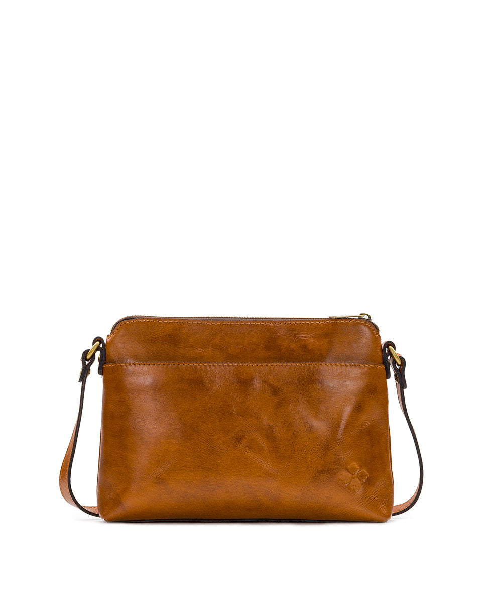 Avellino Crossbody - Antique Rose Tooling 2