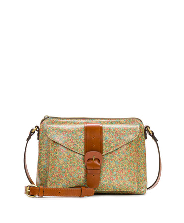 Avellino Crossbody - Leather Buckle - Coral Bouquet