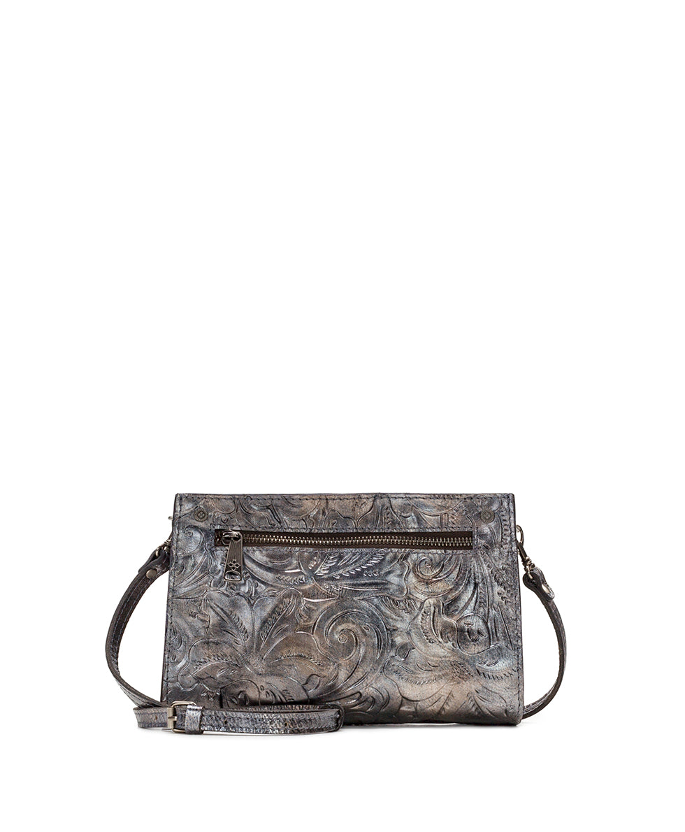 Turati Small Top Zip - Vintage Metallic Tooled