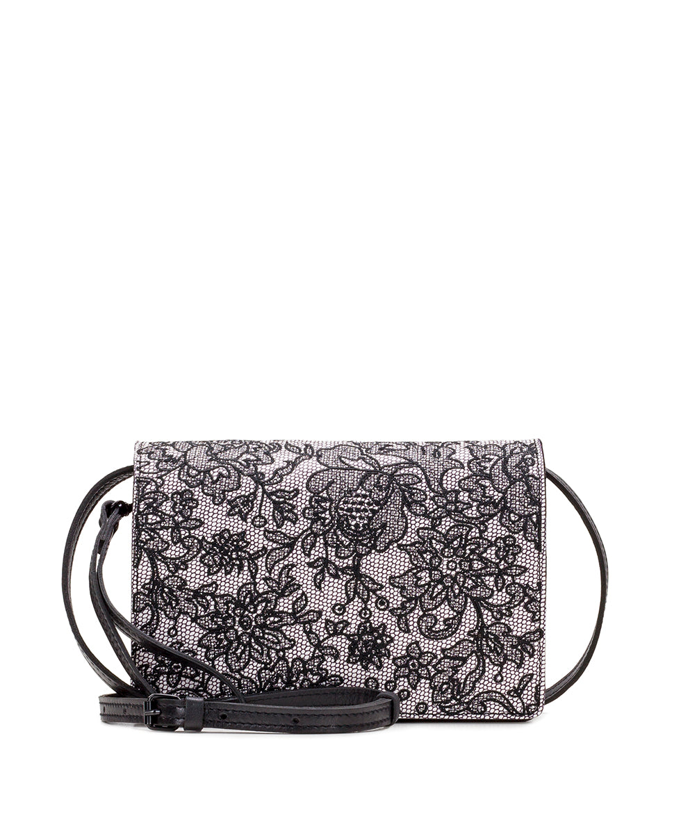 Lanza Crossbody Organizer - Chantilly Lace