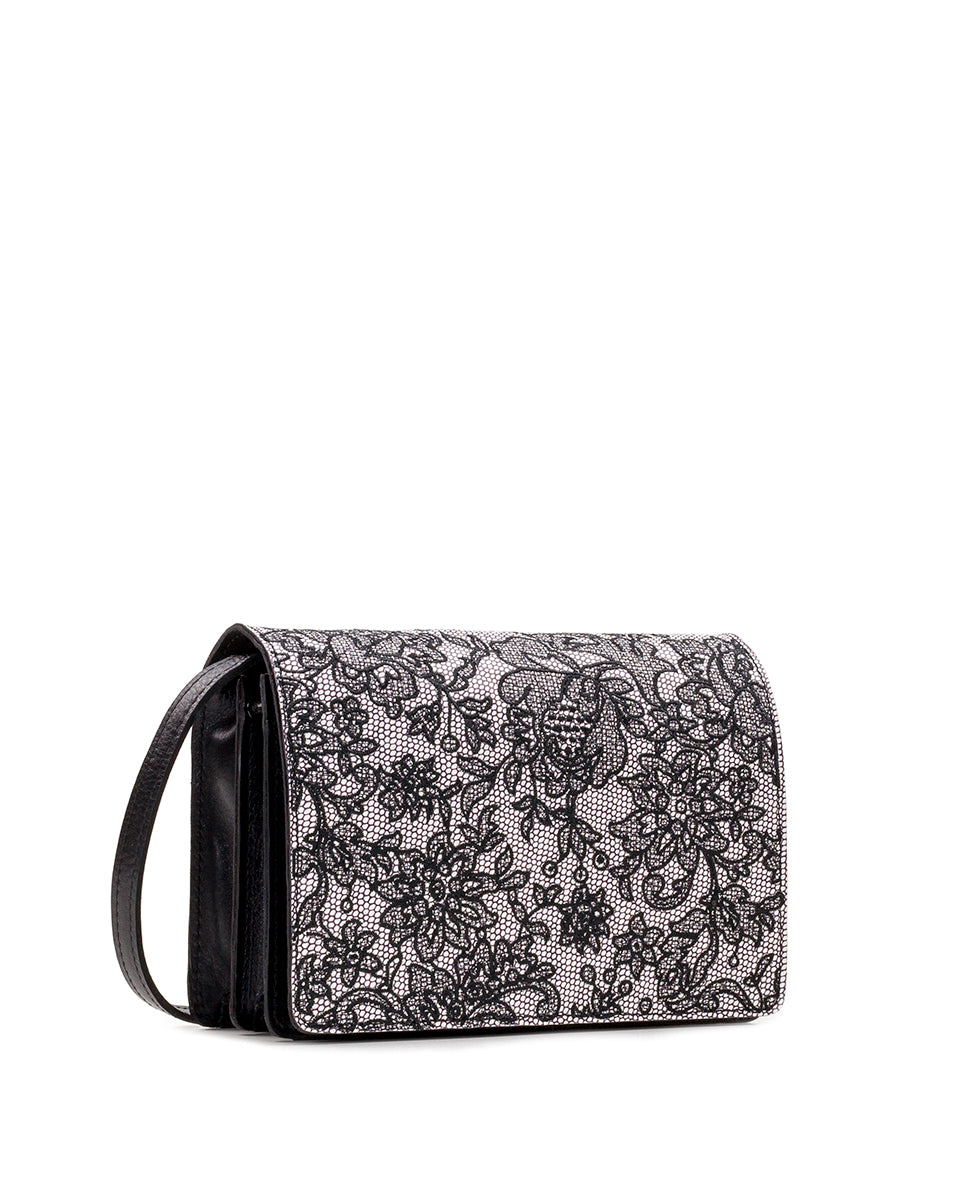 Lanza Crossbody Organizer - Chantilly Lace 3