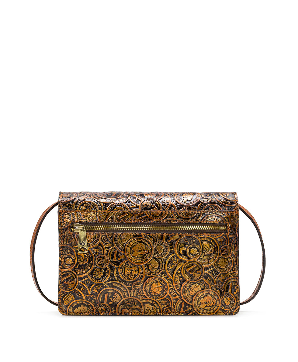 Lanza Crossbody Organizer - Coin Tooled 2