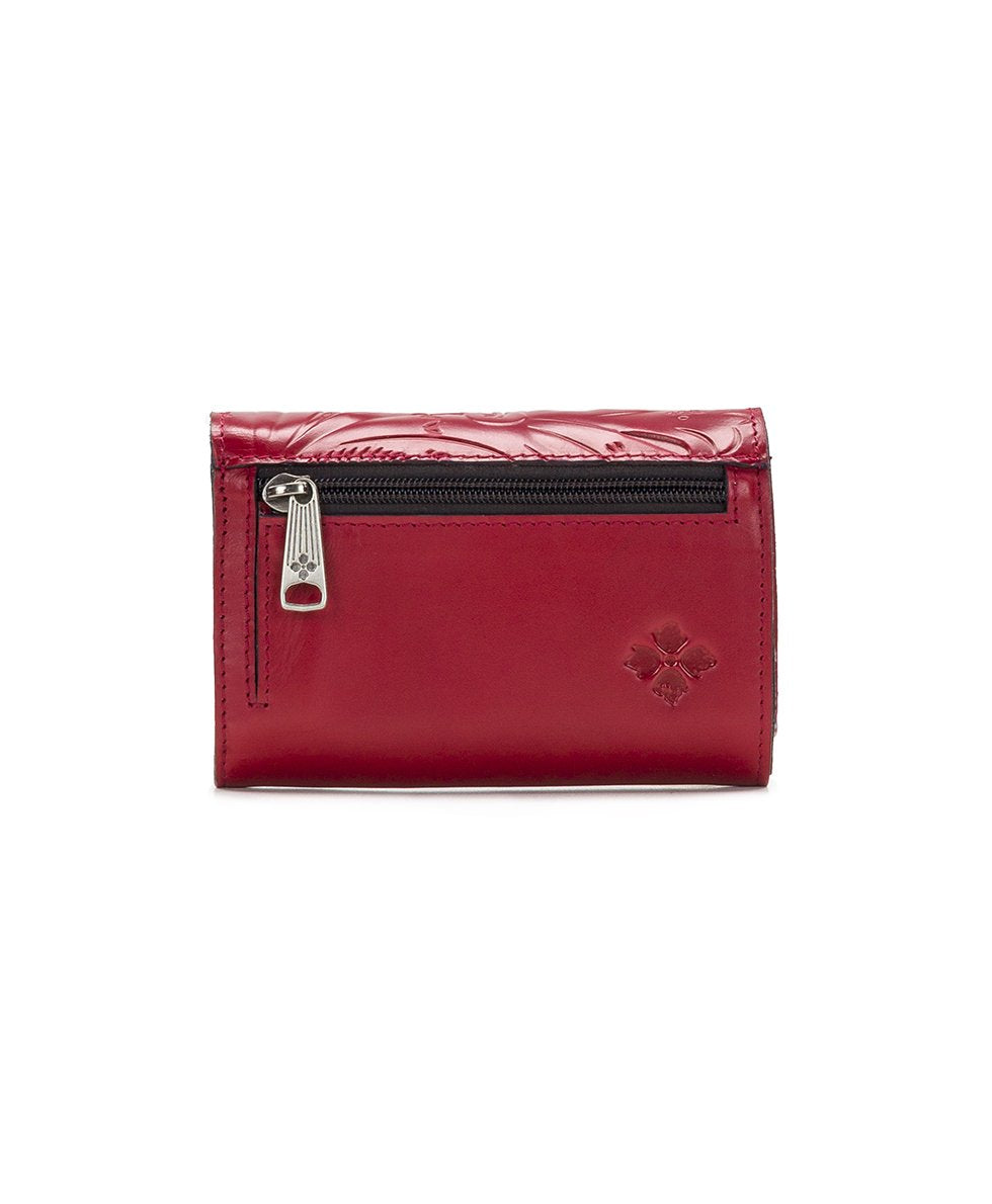 Cametti Wallet - Waxed Tooled - Red