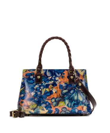 Angela Satchel - Blu Clay Floral - Angela Satchel - Blu Clay Floral