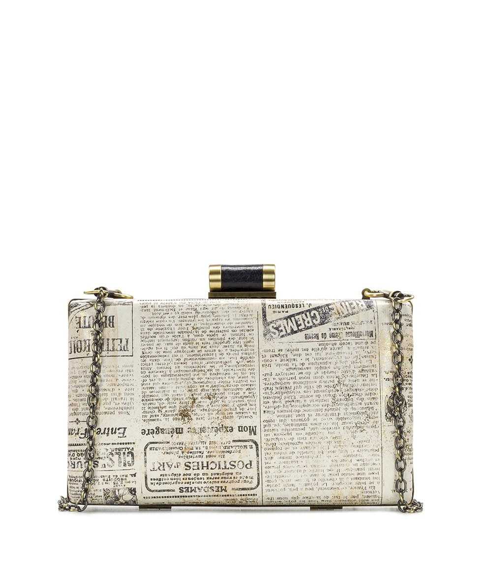 Alora Clutch - Newspaper