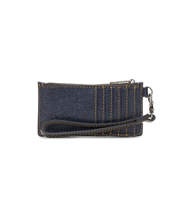 Almeria Credit Card Wristlet - Dark Denim - Almeria Credit Card Wristlet - Dark Denim