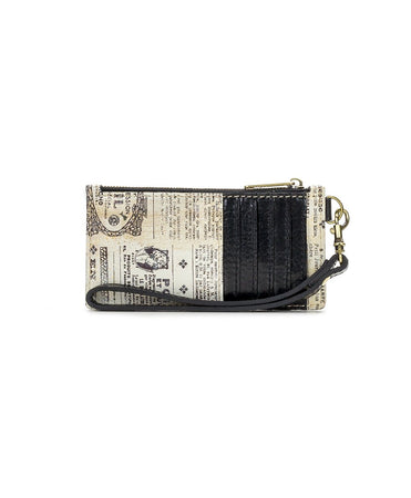 Almeria Credit Card Wristlet - Newspaper - Almeria Credit Card Wristlet - Newspaper