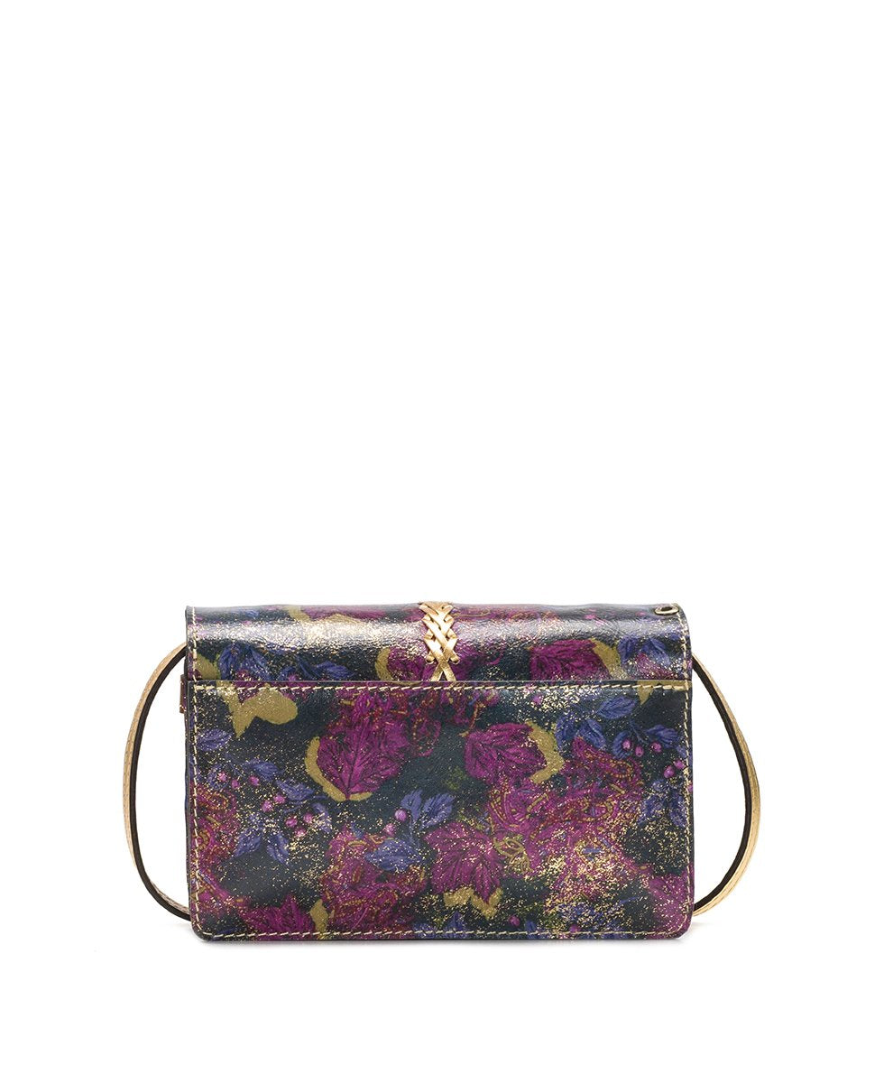 Bianco Crossbody Organizer - Metallic Dusted Paisley 2