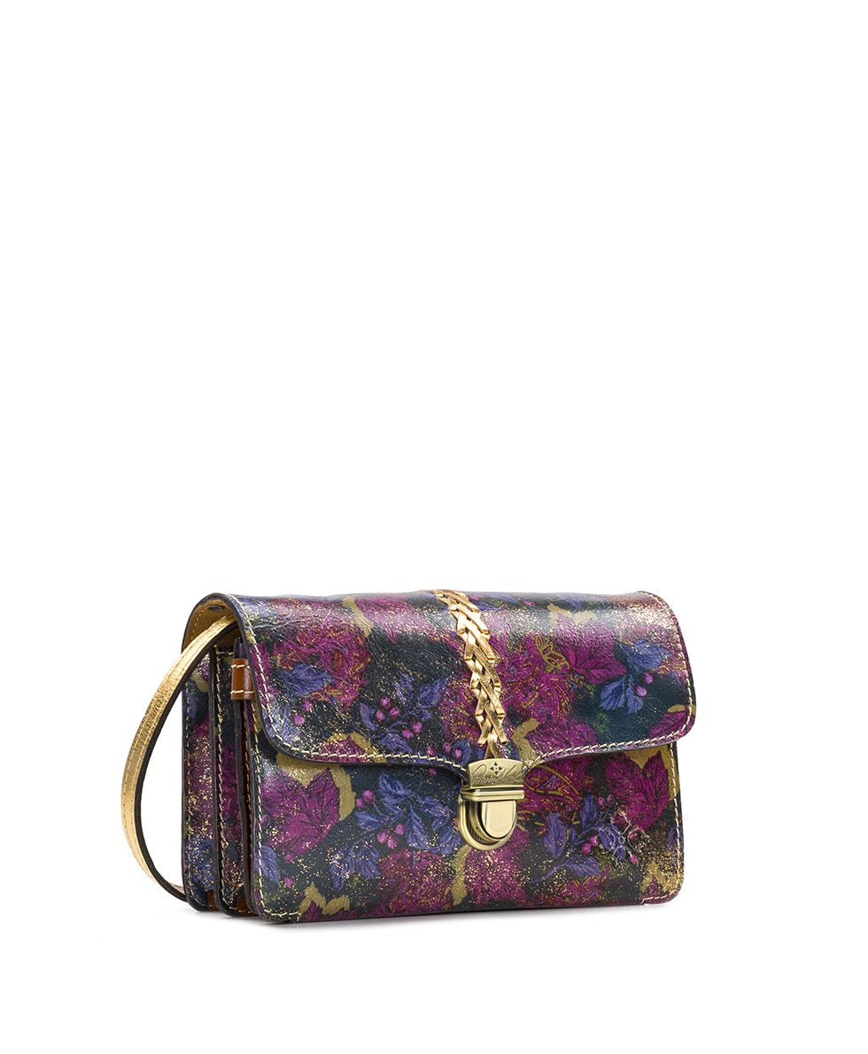 Bianco Crossbody Organizer - Metallic Dusted Paisley 3