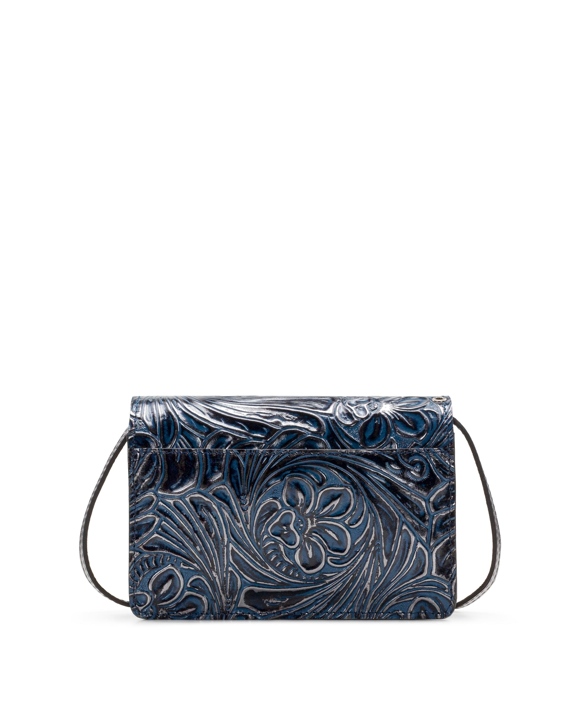 Bianco Crossbody Organizer - Metallic Tobacco Fields Navy 2