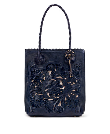 Cavo Tote - Burnished Tooled - Navy