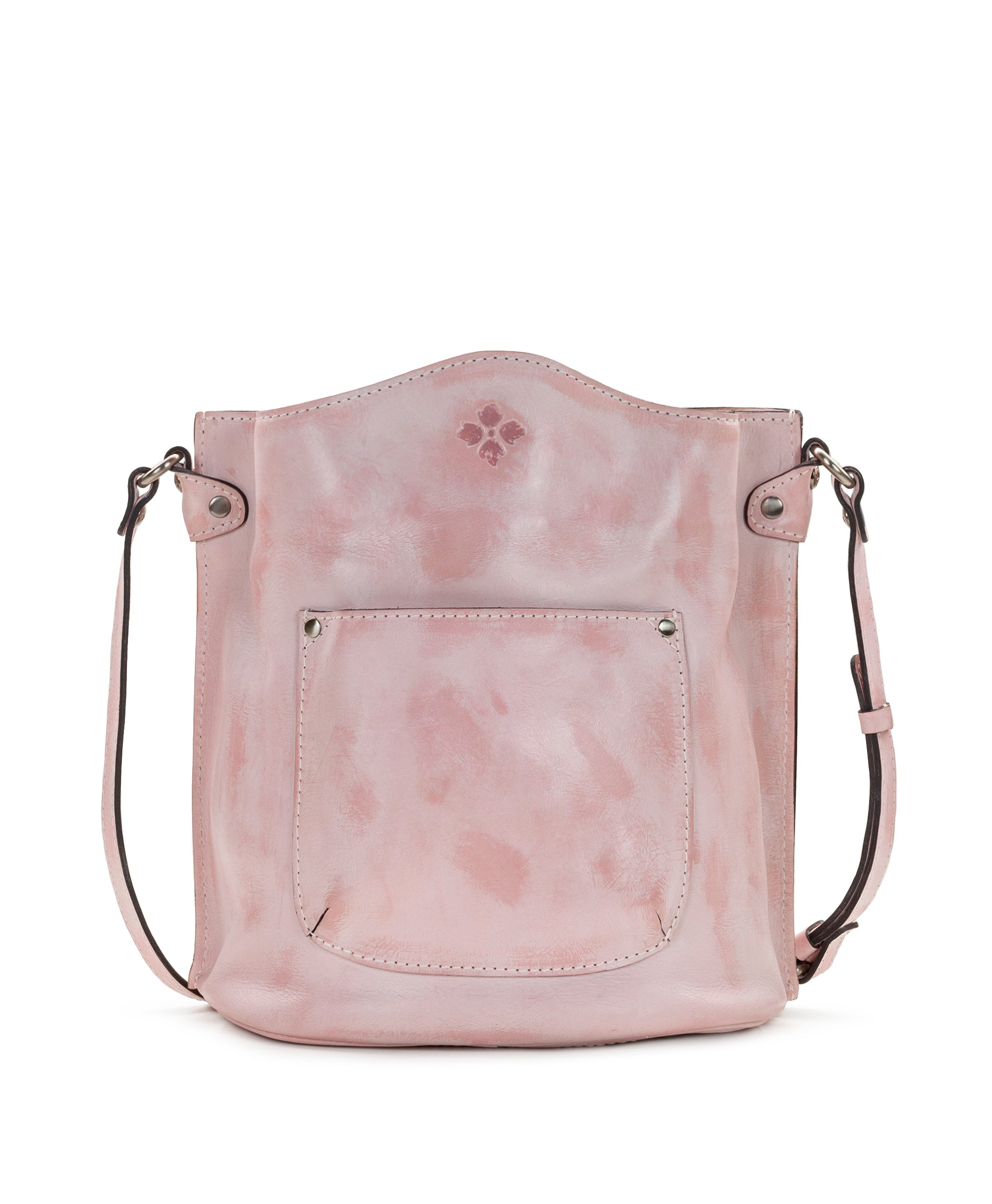 Lavello - White Waxed Tooled Pink 2