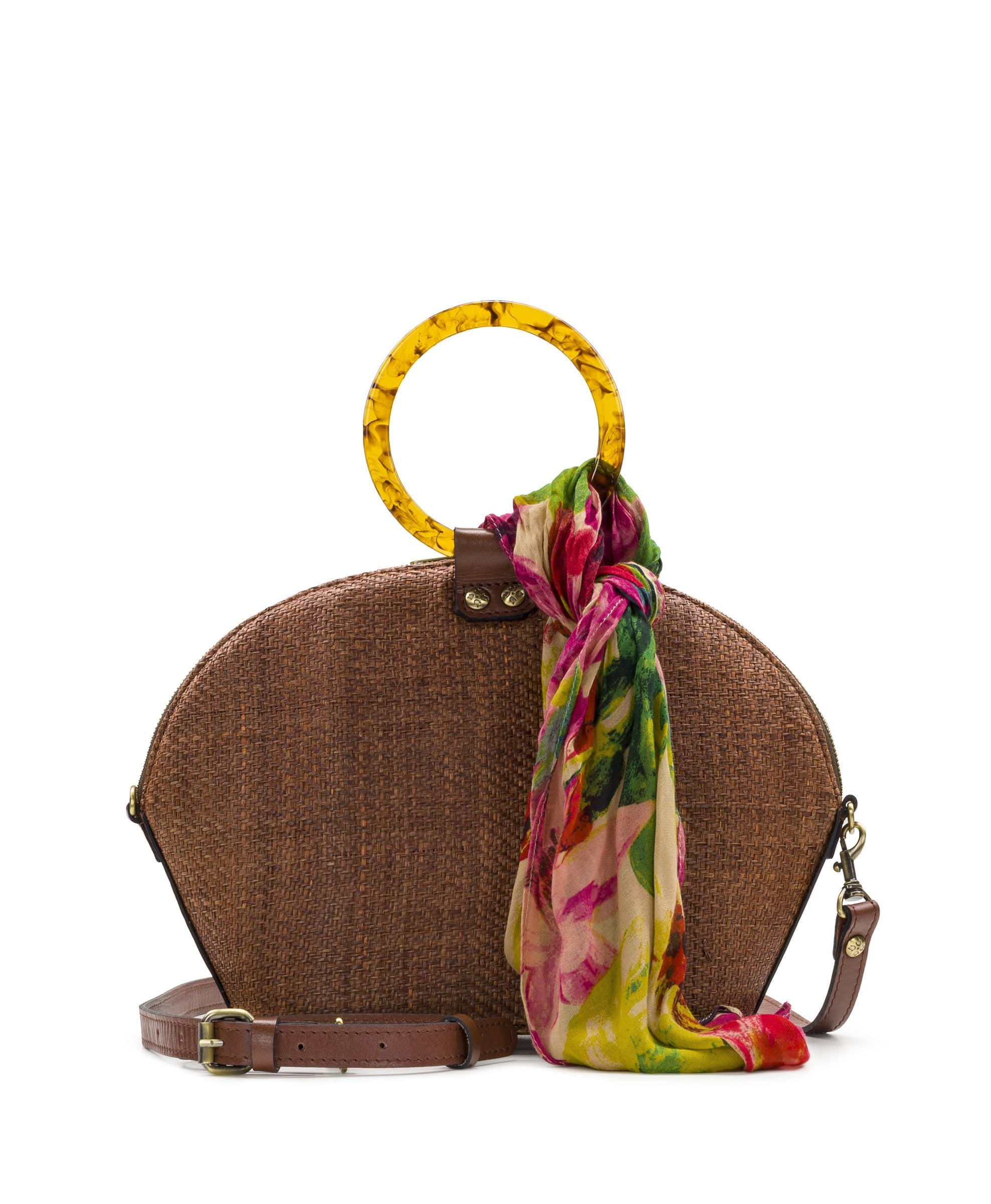 Meldola Dome - Raffia Tobacco with Spring Multi Scarf