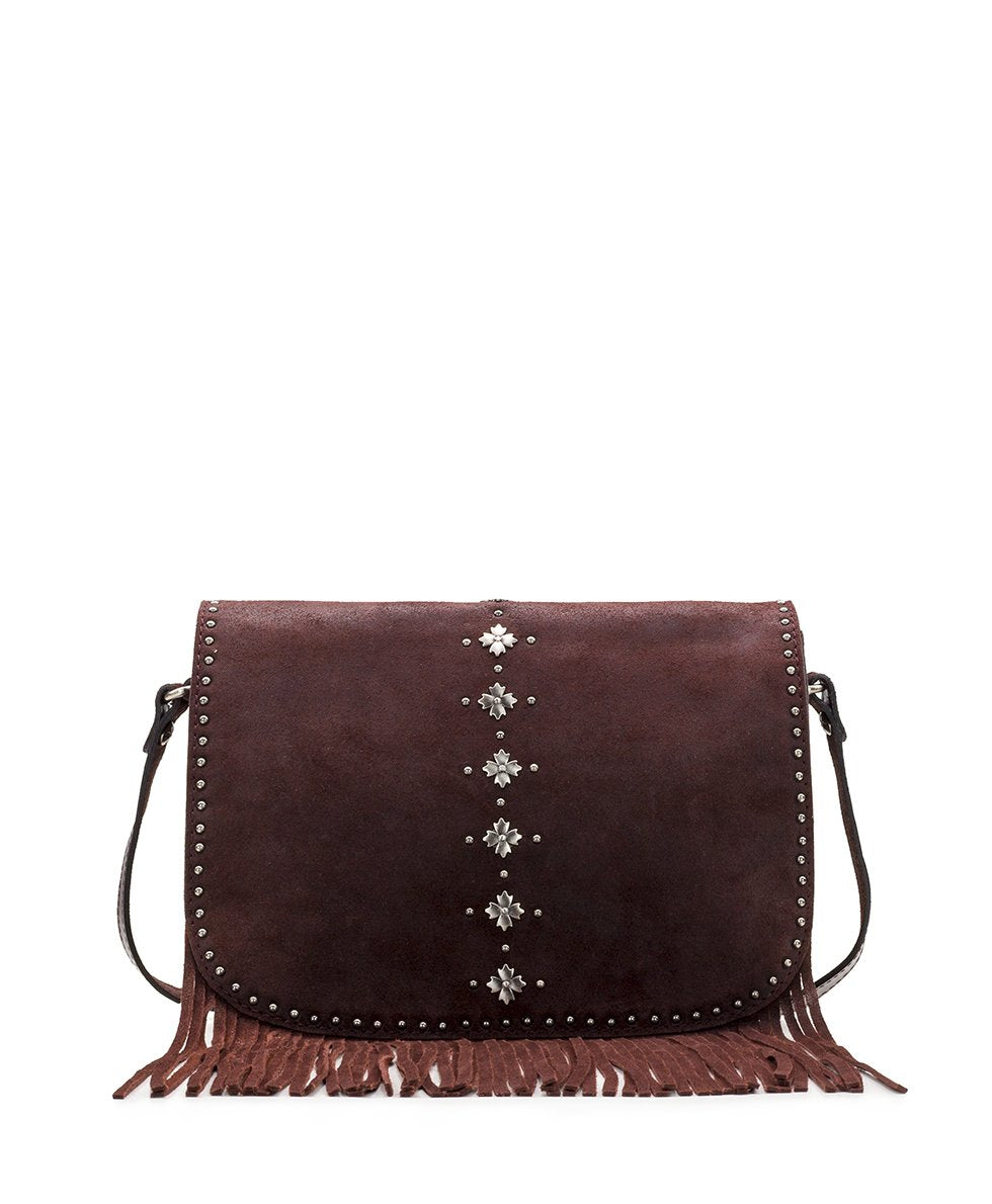 Lisbon Saddle Bag - Oil Burnished Suede