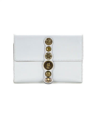 Colli Flap Wallet - Renaissance Coin - White