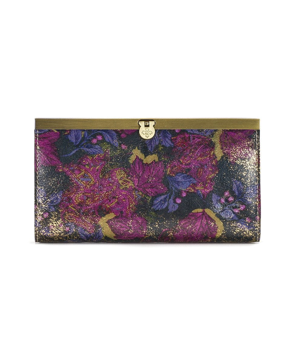 Cauchy Wallet - Metallic Dusted Paisley