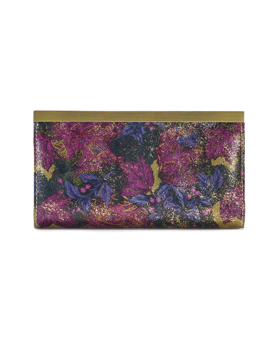 Cauchy Wallet - Metallic Dusted Paisley 2