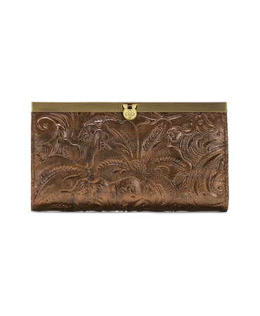 Cauchy Wallet - Vintage Metallic Tooled - Antique Gold